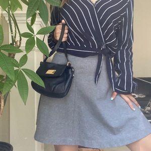 UNIQLO GRAY Aline Elastic Waistband mini Skirt